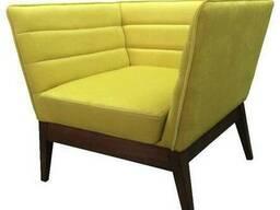 Кресло Хельмут Waldberg мягкое в гостиную, кабинет, кафе Бук, до 110 кг, Желтый