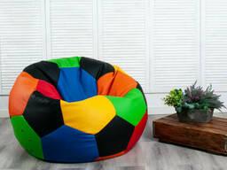 Крісло мішок різнокольоровий м'яч з екошкіри діаметр 100 см