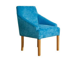 Кресло Ницше Waldberg мягкое в гостиную, кабинет, кафе Бук, до 110 кг, Голубой