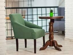 Кресло Ницше Waldberg мягкое в гостиную, кабинет, кафе Бук, до 110 кг, Зеленый