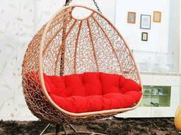 Підвісне крісло з ротанга садове для вулиці з ротанга