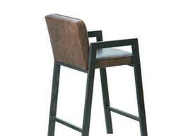 Кресло-стул Доминик Waldberg мягкое в гостиную, кабинет, кафе Бук, до 110 кг, Коричневый
