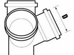 Крестовина двухплоскостная для внутренней канализации.