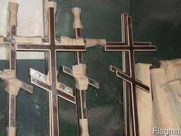 Кресты деревянные крашенные простые