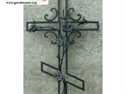 Кресты ритуальные надгробные, Металлические кованые кресты