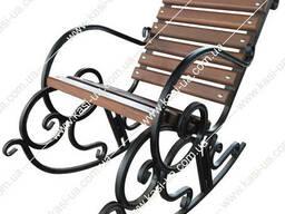 Крісло-качалка металеве, KU-0222