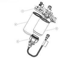 Кронштейн топливных фильтров с фильтрами Volvo / Renault. ..