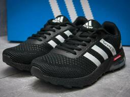 Кроссовки женские 12801, Adidas Galaxy 2017, черные, <. ..