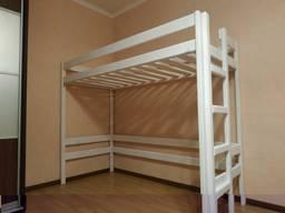 Кровать- чердак из натурального дерева