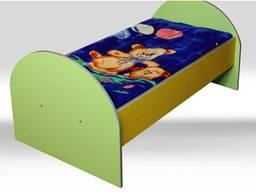 Кровать детская 1-местная с радиусными спинками 1400-600