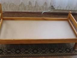 Кровать детская деревянная 140х60 см для детского сада