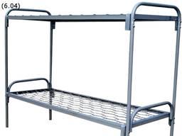 Кровать двухярусная 190х70 спинка металлическая