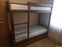 Кровать двухъярусная деревянная - Донецк