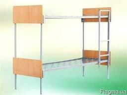 Кровать комбинированная двухъярусная с быльцами дсп 190/70