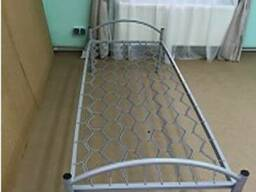 Кровать 190х90 на профильной трубе металлическая для общежит