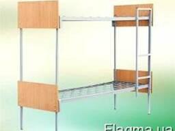 Кровать металлическая 2-х ярусная 190*70 см, с лестницей