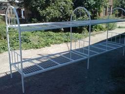 Кровать металлическая армейская двухъярусная