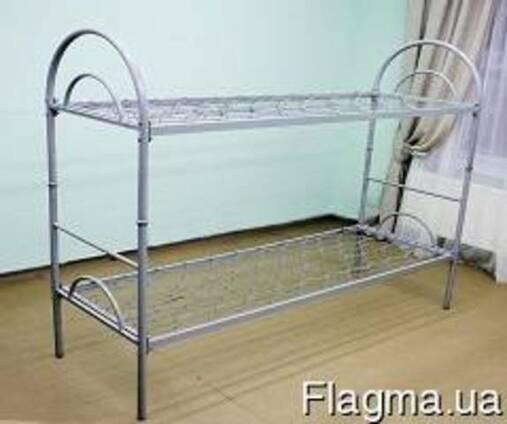 Кровать металлическая двухъярусная трансформер с дугами.
