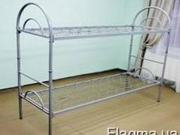 Кровать металлическая двухъярусная трансформер с дугами. - фото 1
