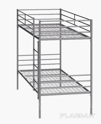 Кровать металлическая двухярусная Синд