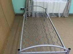 Кровать одноярусная металлическая на сетке ПКЕ-3 190х90