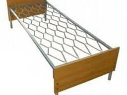 Кровать одноярусная с деревянной спинкой (дсп)