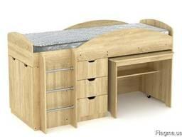 Кровать Универсал со столом и ящиками - фото 2