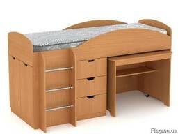 Кровать Универсал со столом и ящиками - фото 3
