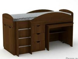Кровать Универсал со столом и ящиками - фото 4