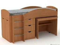 Кровать Универсал со столом и ящиками - фото 6