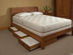 Кровать двуспальная деревянная Уют
