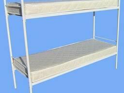 Кровати металлические двухъярусные для рабочих - фото 3