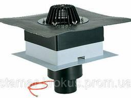 Кровельная воронка DrainBox DN110 с битумным полотном и подогревом (10-30Вт/230В). .. .