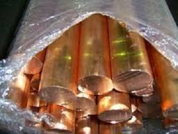 Круг медный от 22-140 мм М1 М2(мягкий, твёрдый, птв. )