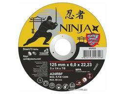 """Круг шліфувальний по металу Ninja ТМ """"Virok"""" тип 27 Ø=125х22. 23 мм t=6 мм"""