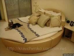Круглая кровать Глория Люкс. Изготовление круглых кроватей в Киеве.