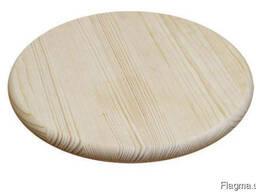 Круглая столешница из массива дерева ясень