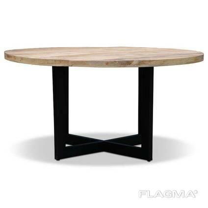 """Круглый деревянный столик """"Манго"""" в стиле loft от производителя"""