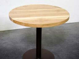 Круглый стол для кафе и ресторанов из массива диаметр 70