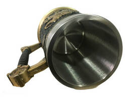Кружка Чашка 3D Skull Mug Череп Пивная кружка Рыцарь на коне 3D Рыцарь Крестоносец
