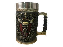Кружка Чашка 3D Skull Mug Череп Пивная кружка с Гербом Крылатого Черепа