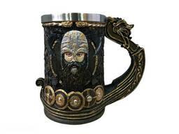 Кружка Чашка Бокал Игра Престолов Драккар Викинг Танкард Stark Targaryen 3D Пивная. ..