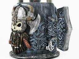 Кружка Чашка Бокал Викинг Воин Сатана 3D Молот Тора Нержавеющая Сталь