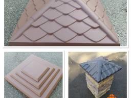 Крышка бетонная для столба забора, 400х400, 450х450, 500х500. Парапет бетонный.