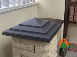 Крышка для кирпичного столбика, Пика 400х400. Прапет бетонный заборный.