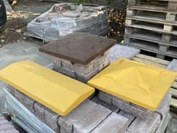 Крышка для забора, парапет бетонный разные цвета и размеры.