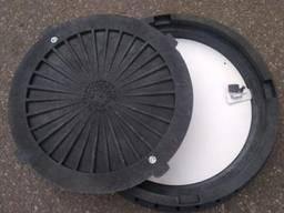 Крышка люка пластмассового легкого №1 (чёрная)