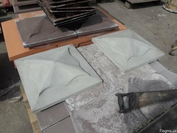 Крышка на столб 450*450 мм. Тюльпан серый