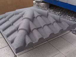 Крышка, накрывка парапет бетонный Черепица 450х450