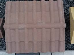 Крышка, накрывка парапет бетонный Черепица 500х450